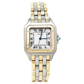 """Cartier-Cartier """"Panther"""" model watch in yellow gold and steel. Big model.-Other"""