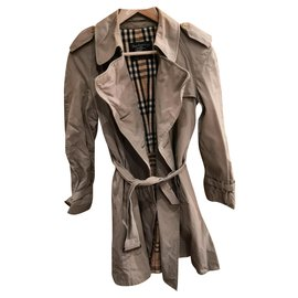 Burberry-Sublime vintage burberry trench coat-Beige