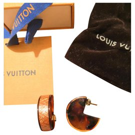 Louis Vuitton-Sublimes boucles d'oreilles Louis Vuitton Circus corail-Marron