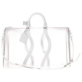 Louis Vuitton-Ultra rare Louis Vuitton Keepall 50 bandoulière Epi plage blanc , état neuf !-Autre