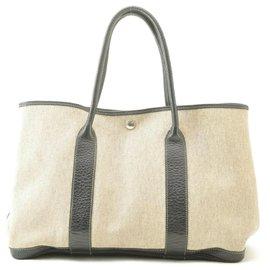 Hermès-Hermès Garden Party PM Tote Bag-Grey
