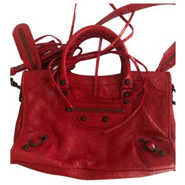 Balenciaga-City Bag Classic rouge TANGO-Red