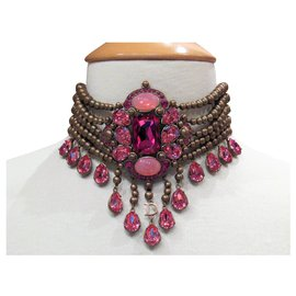 Dior-Collier impressionnant de John Galliano pour Dior-Doré
