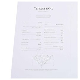 Tiffany & Co-TIFFANY & CO. Bague solitaire 0.19ct-Blanc