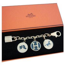 Autre Marque-Breloque sac Hermes Gold Breloque MENTHE-Doré