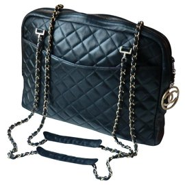 Chanel-Sac Chanel modèle Caméra grand modèle-Noir