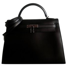 Hermès-hermes kelly 32 Millennium Moonlight-Black