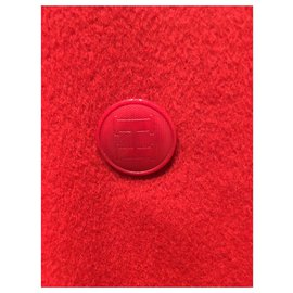 Chanel-Coats, Outerwear-Red