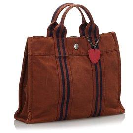 Hermès-Hermes Brown Fourre Tout PM-Brown,Blue