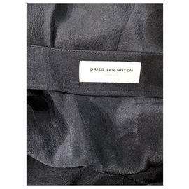 Dries Van Noten-Robe en soie Dries van Noten FR36-Bleu Marine
