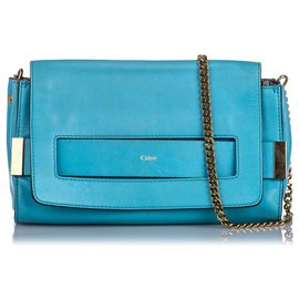 Chloé-Chloe Blue Elle Crossbody Bag-Blue