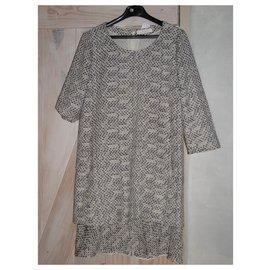 Chloé-Dress dress CHLOE t 38-Cream,Dark grey