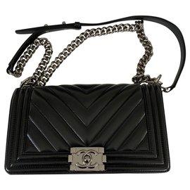 Chanel-Chanel Boy Black Bag-Black