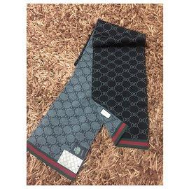 Gucci-Écharpe en tricot-Noir