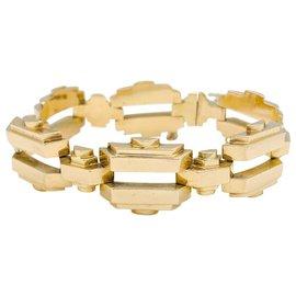 inconnue-Bracelet Tank en or jaune.-Autre