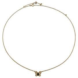 Van Cleef & Arpels-Collier Van Cleef & Arpels, papillon, or jaune émeraude et diamants.-Autre