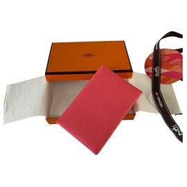 Hermès-Hermès Calvi card holder-Pink