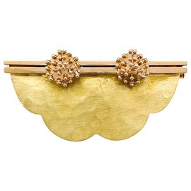 Autre Marque-Pin J. In yellow and pink gold.-Other