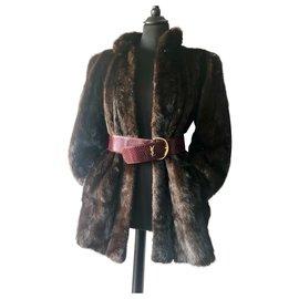 Yves Saint Laurent-Yves Saint Laurent mink coat-Dark brown