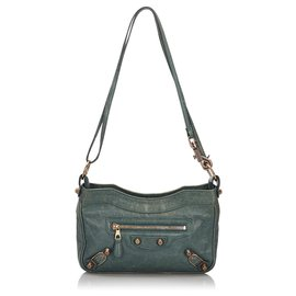 Balenciaga-Balenciaga Green Motocross Giant Hip Crossbody Bag-Green