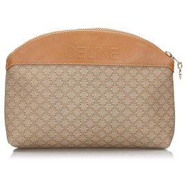 Céline-Celine Brown Macadam Pouch-Brown