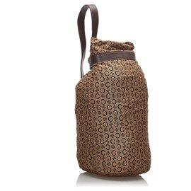 Céline-Celine Brown C Macadam Canvas Backpack-Brown,Light brown,Dark brown