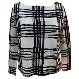 Balenciaga-Pull blanc et noir neuf Balenciaga-Noir,Blanc
