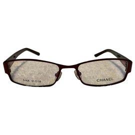Chanel-Vintage burgundy glaases frame-Dark red