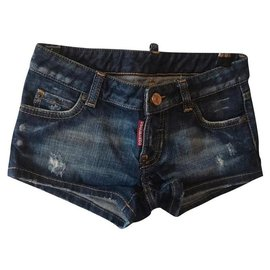 Dsquared2-Short Fille-Bleu