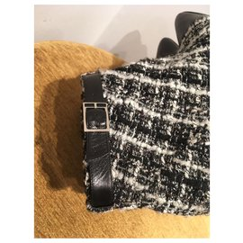 Chanel-Bottines-Noir,Blanc