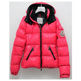 Moncler-Moncler Real Down Jacket avec capuche amovible-Rose