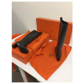 Hermès-Magnificent Hermes Boots in very good condition-Chestnut