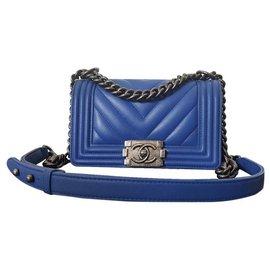 Chanel-Boy (Petit)-Blue