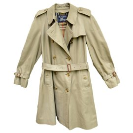 Burberry-vintage Burberry women's trench coat 42-Khaki