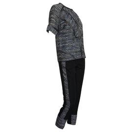 Derek Lam-tailleur pantalon-Noir,Gris