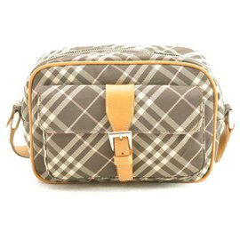 Burberry-Burberry Label Nova Check Nylon-Black