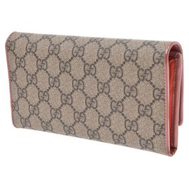 Gucci-Portefeuille Gucci Continental Greige-Beige