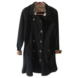 Burberry-Girl Coats outerwear-Black