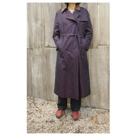 Burberry-Burberry woman raincoat vintage t 36 with removable wool lining-Purple
