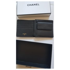 Chanel-Chanel vintage mini wallet caviar leather-Black