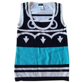 Chanel-Cashmere top-Multiple colors