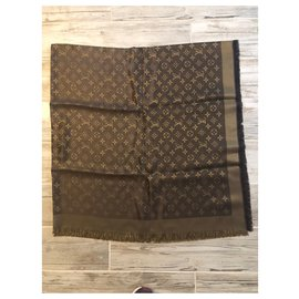 Louis Vuitton-Foulard Louis Vuitton monogram shine-Marron
