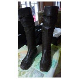 Chanel-Boots-Dark brown