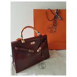 Hermès-KELLY 35-Bordeaux