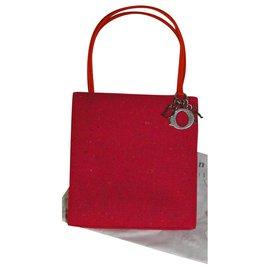 "Dior-Petit sac DIOR "" Lady Dior "" en tweed fushia - état Neuf-Orange,Fuschia"