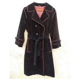 Yves Saint Laurent-Coats, Outerwear-Black,Red