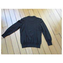 Louis Vuitton-Pull laine noire, taille M.-Noir
