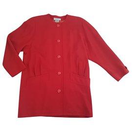 Balenciaga-Manteaux, Vêtements d'extérieur-Rouge