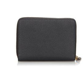 Balenciaga-Balenciaga Black Leather Wallet-Black