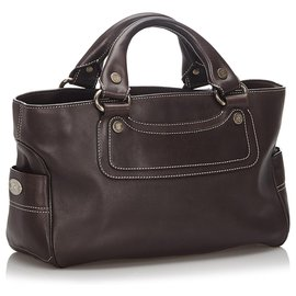 Céline-Celine Brown Leather Boogie-Brown